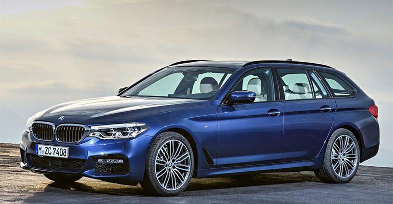 Обзор автомобиля BMW 5-Series Touring 2017-2018 BMW