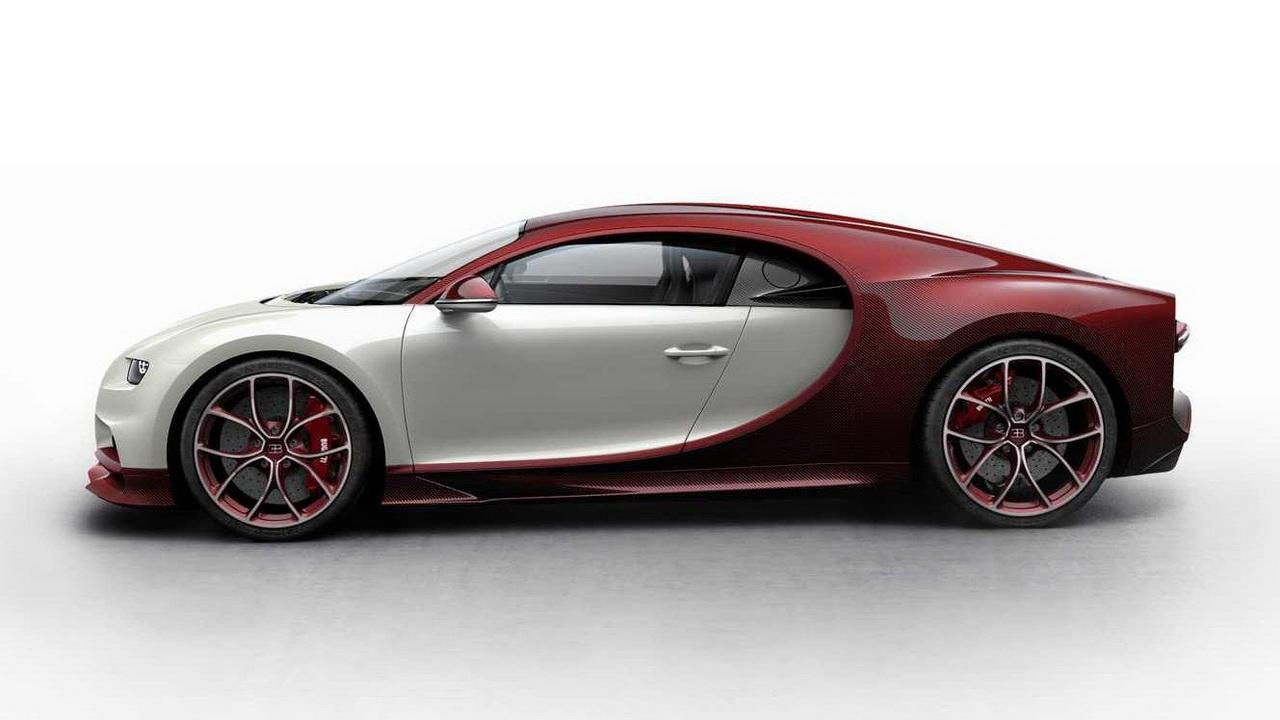 Bugatti Chiron: цветовой конфигуратор для разминки
