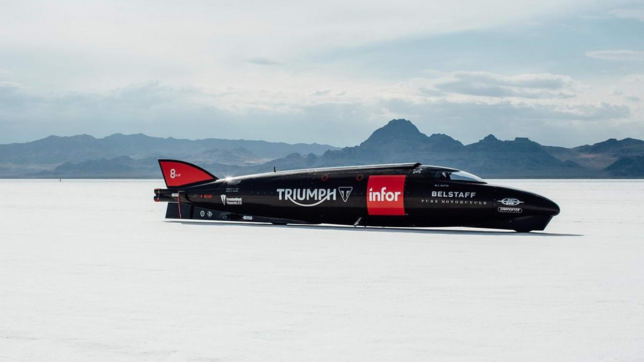 529 Британский Triumph готов побить рекорд скорости на земле
