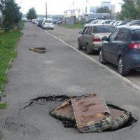 17921 Новые технологии в Кургане: ремонт дорог старыми матрасами