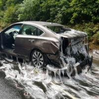 17907 Самая скользкая авария в мире: в Орегоне перевернулся грузовик с морепродуктами