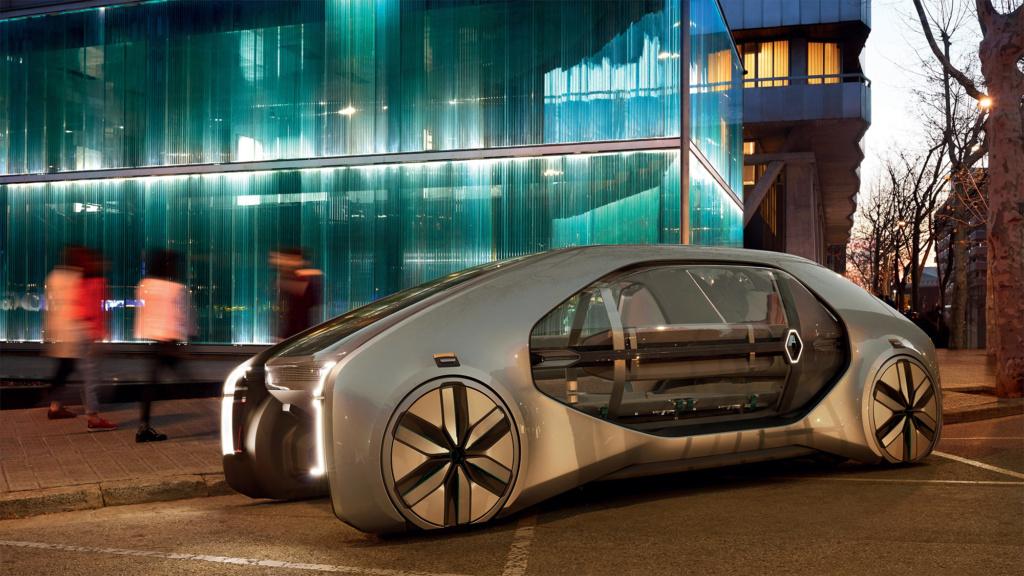 20265 Электромаршрутка по-французски: Renault представила общественный робомобиль