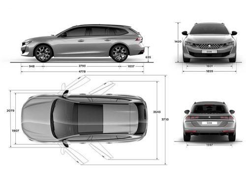 Обзор автомобиля Peugeot 508 SW 2018 – 2019