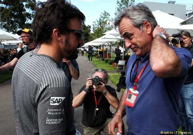 Алонсо рассказал, как познакомился с Карлосом Сайнсом