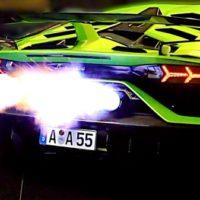 26547 This Aventador SVJ spits HUGE FLAMES! ?(Novitec exhaust)