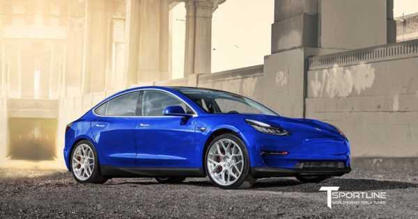 В T Sportline представили первый тюнинг-кит для Tesla Model 3