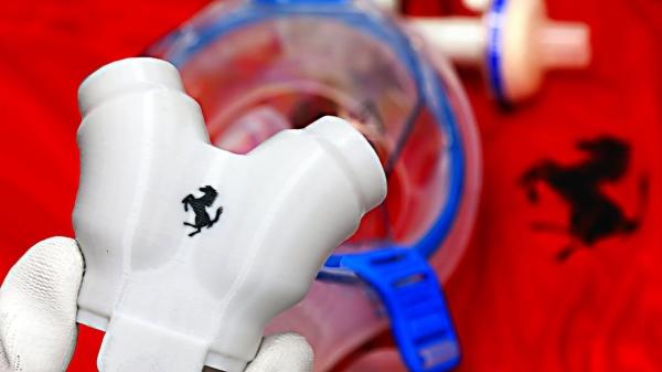 30013 Ferrari starts production of valves for respirators | Maranello Factory