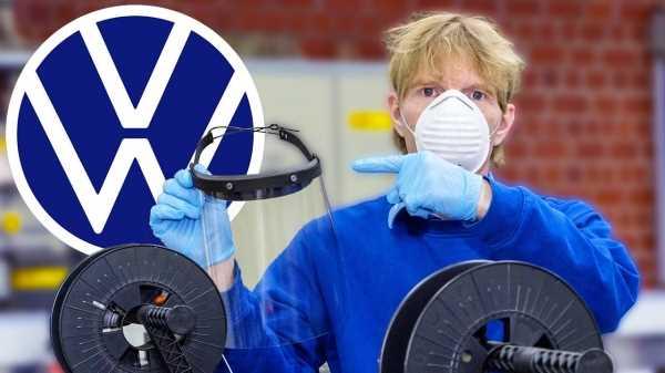 26933 Volkswagen Makes Face Shields to Fight Coronavirus