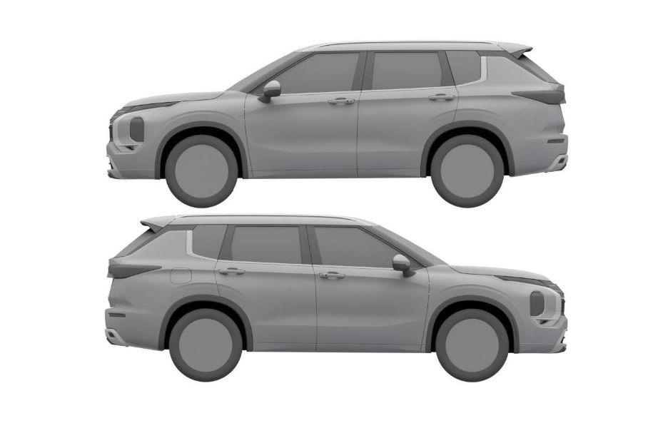 Mitsubishi запатентовал внешность нового Outlander для России